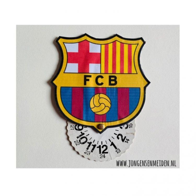 vaderdag knutselen,parkeerschijf fc barcelona,voetbal parkeerschijf,voetbal knutselen