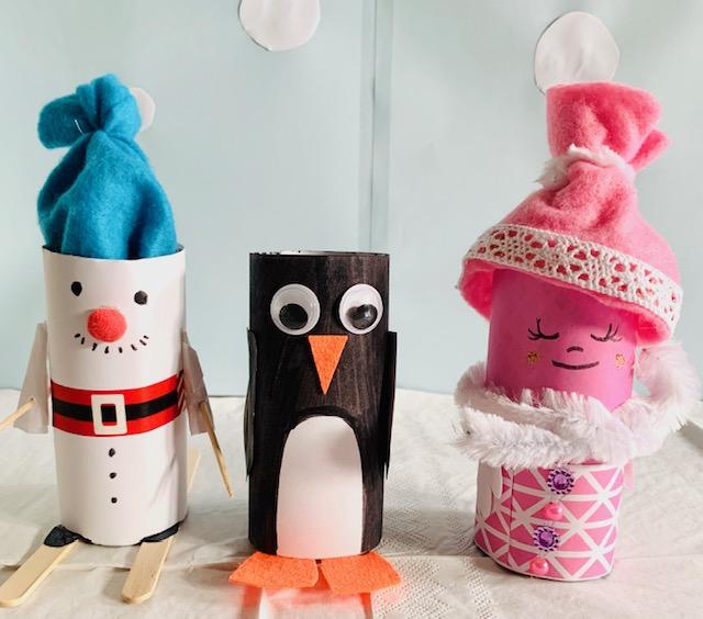 Welp knutsel ideeen - winter knutsels - Jongens en meiden FQ-99