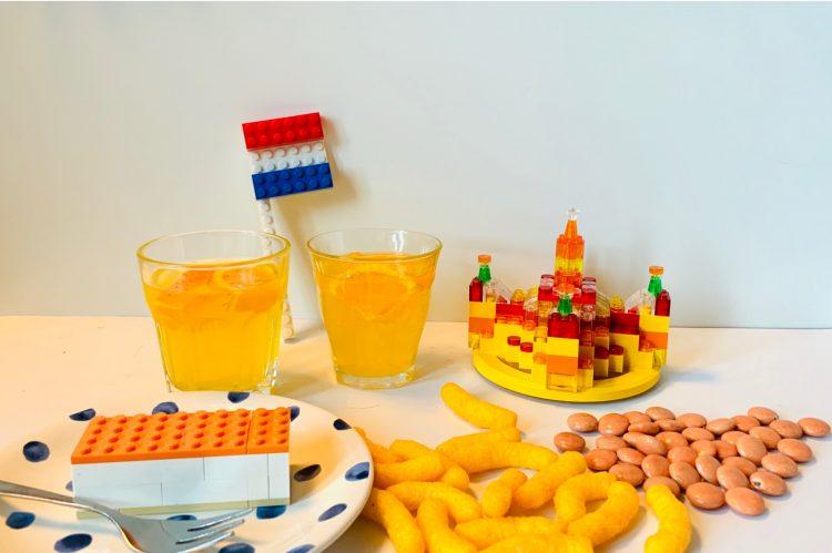 woningsdag,tips woningsdag,tips koningsdag corona,tips koningsdag kinderen,koningsdag 2020,lego tompouce,lego kroon,lego nederlandse vlag,chipito's,oranje smarties,limonade